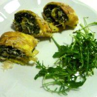 Frittata di cipolla e spinaci