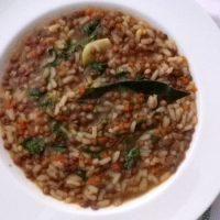 Minestra di lenticchie e riso