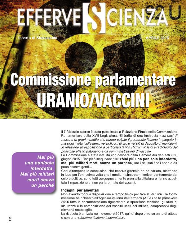 Commissione parlamentare Effervescienza n. 107 aprile 2018 URANIO/VACCINI