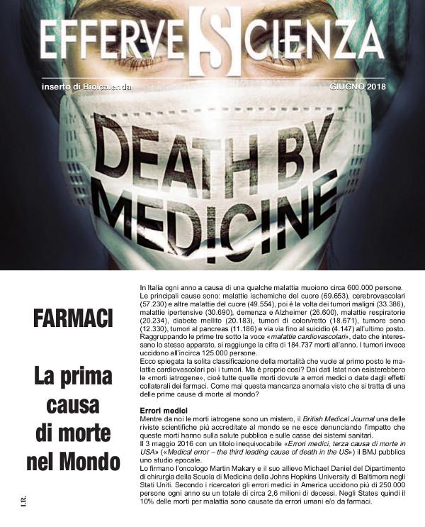 Farmaci: prima causa di morte al mondo