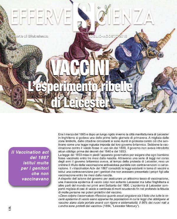 Vaccini l'esperimento ribelle di Leichester