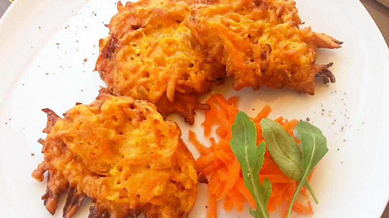 Frittelle di carote - Biolcalenda di ottobre 2017