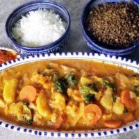 Mafé vegetariano con riso o cérè