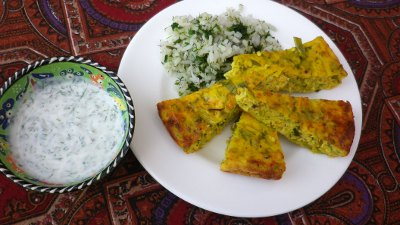 Kuku-ye-must - frittata con yogurt
