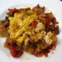 Mirza ghasemi - melanzane con uova