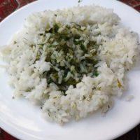 Sabzi polo (riso con erbe aromatiche)