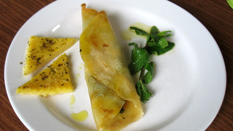 Crepes all'ortica e menta