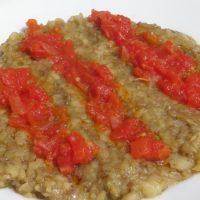 Salata de vinete coapte si tocate (insalata di melanzane arrosto)