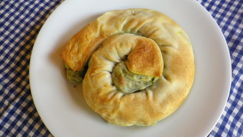 Spanakopites (torta di spinaci e formaggio)