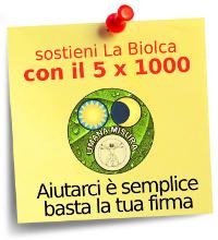 Dona il tuo 5 per mille all'associazione La Biolca
