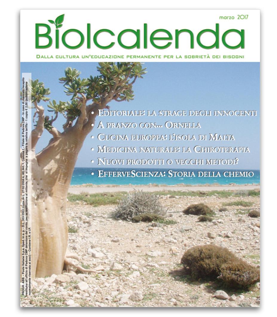 Biolcalenda di marzo 2017 - Associazione La Biolca