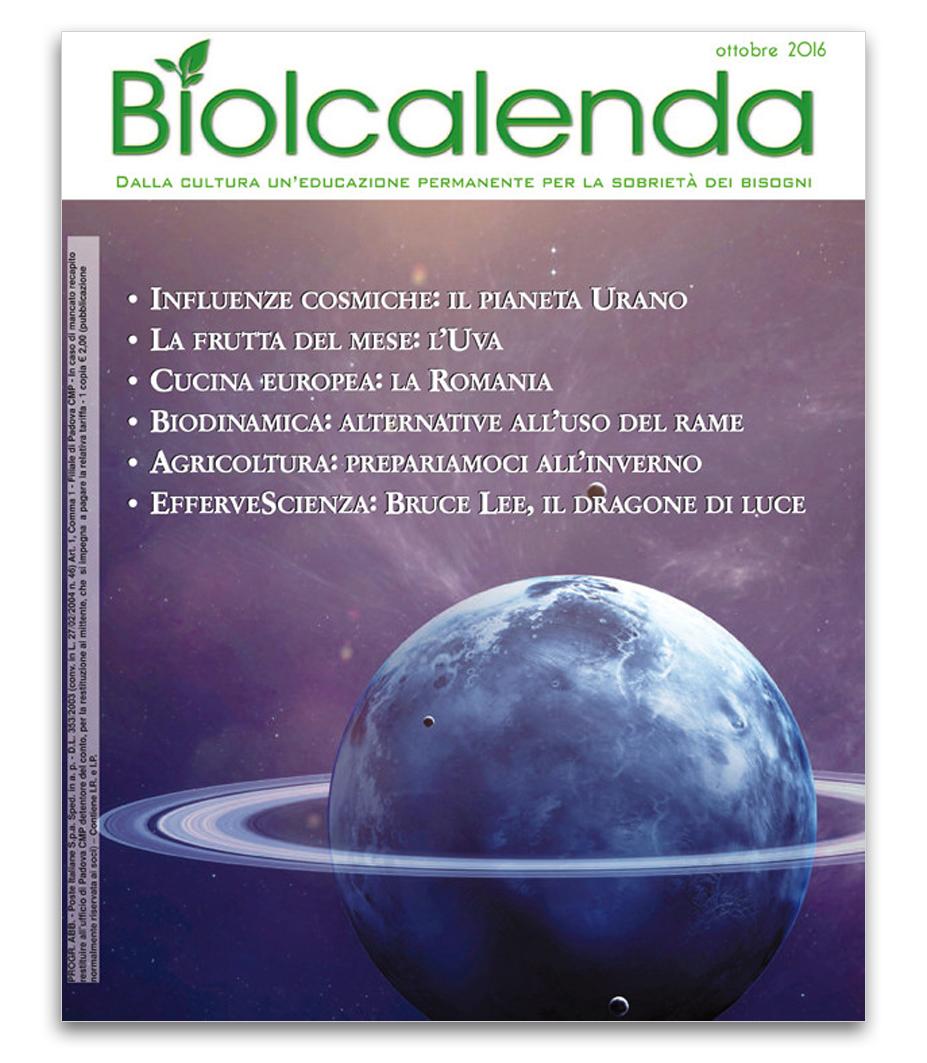Biolcalenda di ottobre 2016 - Associazione La Biolca