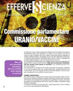 Commissione parlamentare URANIO/VACCINI - Effervescienza n.XXX