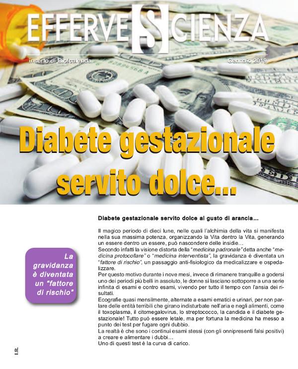 Diabete gestazionale servito Dolce - effervescienza 115 gennaio2019