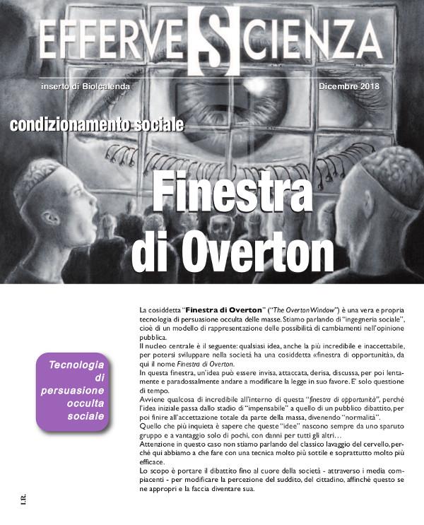 La finestra di Overton -effervescienza 114 dicembre 2017