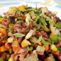 Riso tiepido alle verdurine estive - primi cucina per intolleranti e allergici
