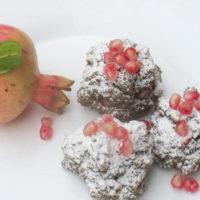 Pasticcini di fiocchi di quinoa alla melagrana - Biolcalenda di ottobre 2017