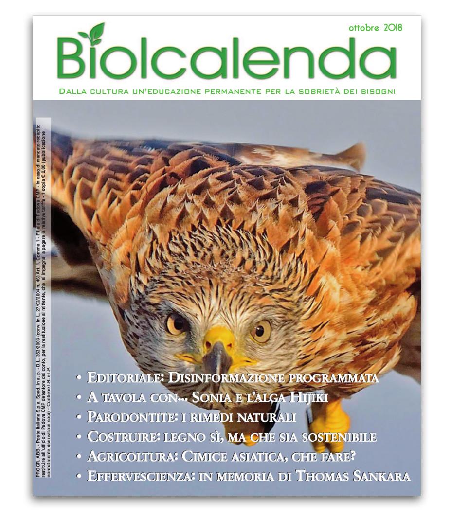 Biolcalenda di ottobre 2018 - mensile dell'associazione La Biolca.