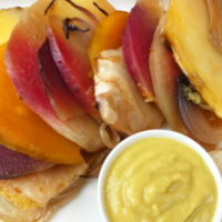 Arcobaleno di verdure con salsa di ceci all'arancia - Biolcalenda di Gennaio2019