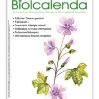Biolcalenda di marzo 2019 - mensile dell'associazione La Biolca. In copertina la Malva