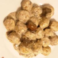 Gnocchi di taragna ai funghi - Biolcalenda di Marzo 2019