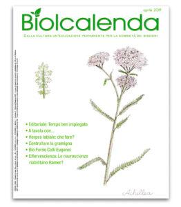 Biolcalenda di aprile 2019 - mensile dell'associazione La Biolca.