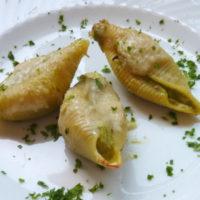 Conchiglioni con crema di asparagi - Biolcalenda di Maggio2019