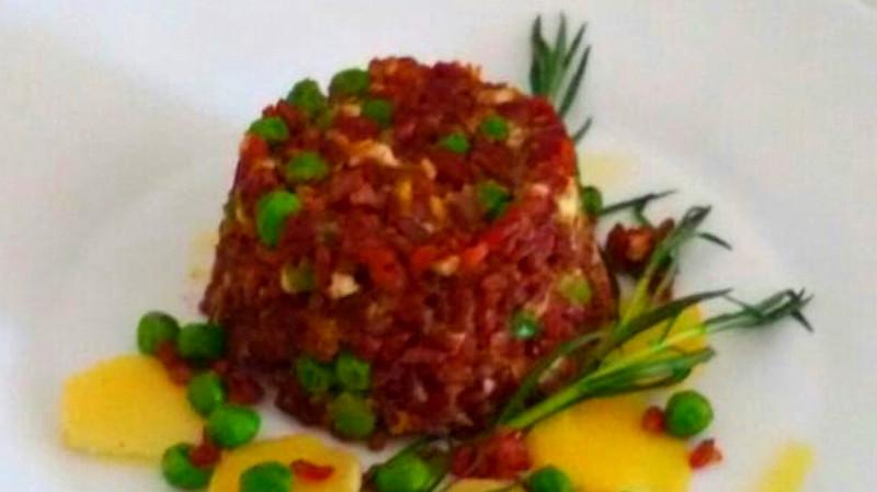 Sformatino di riso rosso ai piselli - Biolcalenda di Giugno2019