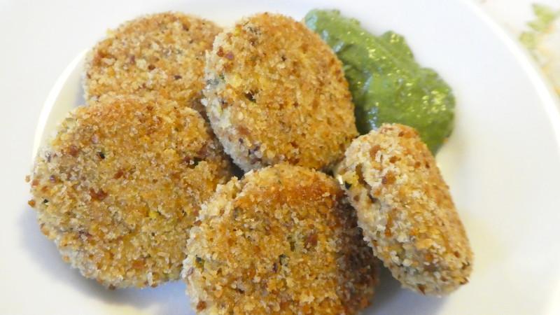Polpette di verdure con salsa verde - Biolcalenda di Giugno2019