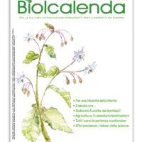 Biolcalenda di settembre 2019 - mensile dell'associazione La Biolca. In copertina Borragine comune