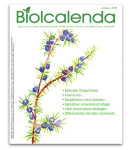Biolcalenda di ottobre 2019 - mensile dell'associazione La Biolca. In copertina Borragine comune