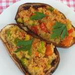 Melanzane ripiene di quinoa - Biolcalenda Ottobre2019