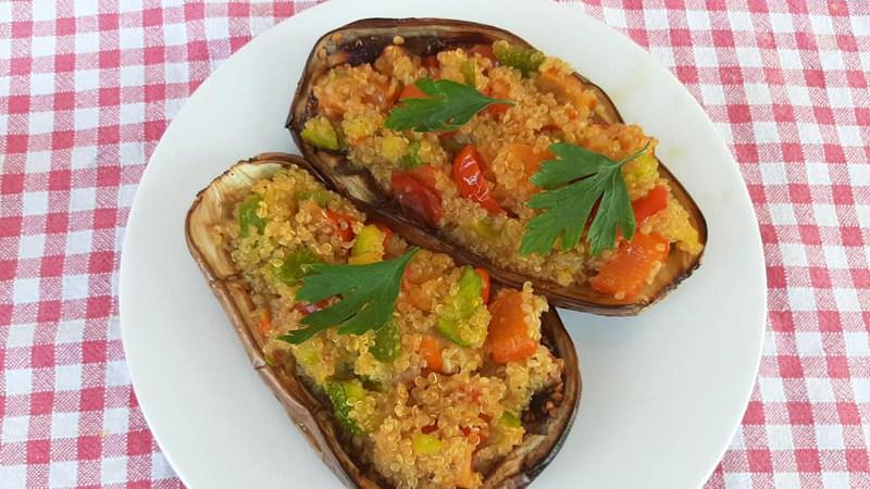 Melanzane ripiene di quinoa - Biolcalenda di Ottobre2019