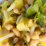 Patate, cannellini e portulaca marinata - Biolcalenda Ottobre2019