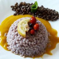 Sformatino d'orzo con lenticchie su crema di zucca - Biolcalenda di febbraio2020