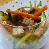 Verdure julienne e tofu - Biolcalenda di aprile2020