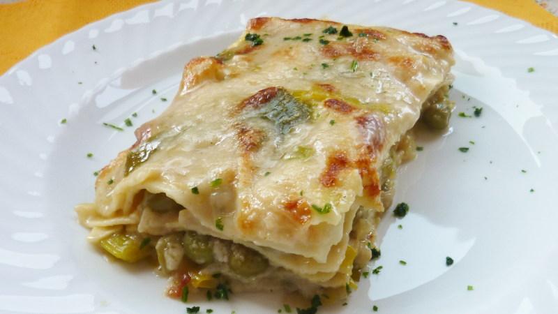 Lasagne con piselli e asparagi - Biolcalenda di maggio2020