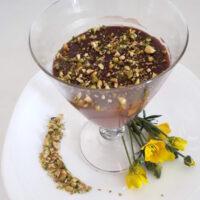 Dessert alla carruba e pistacchi - Biolcalenda di ottobre2020