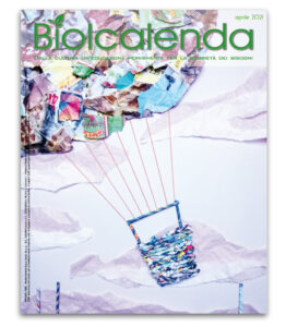 Biolcalenda di Aprile 2021 - mensile dell'associazione La Biolca. In copertina Boschetto di Biete