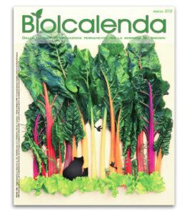 Biolcalenda di Marzo 2021 - mensile dell'associazione La Biolca. In copertina Boschetto di Biete
