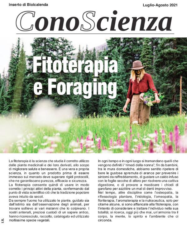 Fitoterapia e Foraging ConoScienza n°7 luglio-agosto 2021